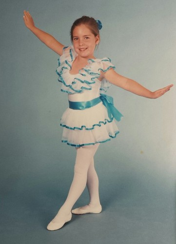 Kelli Ann (Copeland) Wilson, daughter of Brian Copeland, granddaughter of William Delvie Copeland, ca 1986 (age 5).  First dance recital.