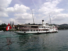 Luzern (Malcolm Bott) Tags: switzerland europe transport luzern paddlesteamer