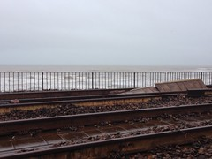 Ripped up railway line (clouise441) Tags: track railway damage storms dawlish