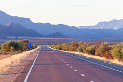 Flinders Ranges (john white photos) Tags: road blue mountains evening australian dry australia bluesky outback remote straight southaustralia flindersranges