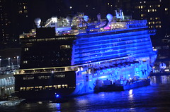 Close-up of Bud Light Super Bowl Cruise Norwegian Getaway at New York City Pier 88 (cmanszebulon) Tags: new york city party west pier nikon getaway side bowl norwegian bud 88 18300 d5100 cmanszebulon cmans9