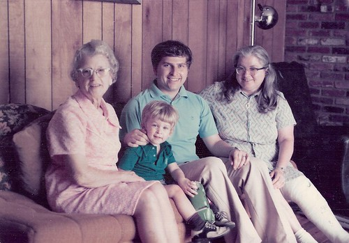 Four Generations with Paul, Eola, Xuripha, and Me in 1975
