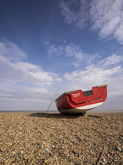 Thelma (Damian_Ward) Tags: ocean red sea beach clouds lumix coast boat suffolk seaside fishing ship shingle craft vessel bluesky olympus panasonic seafront grad dunwich dmc thelma m43 mft gnd gh3 solebay leefilters damianward damianward micro43 microfourthirds 918mm mzuikodigitaled soft06