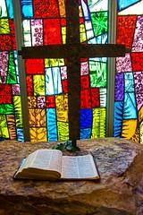 Cross and Bible in The Memorial Chapel (Mysophie08) Tags: georgia thumbsup callowaygardens infocus highquality canond5 friendlychallenges gamex2 herowinner storybookwinner gamesweepwinner storybookbtd1st