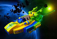 Sprite (Lemon Lime Garc) (Siercon and Coral) Tags: lemon ship lego space sprite micro spaceship lime moc garc
