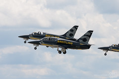 L-39 Breitling Jet Team (Spotterforlife) Tags: deutschland ila albatros brandenburg sfx eddb ber l39 breitling schnefeld breitlingjetteam internationaleluftundraumfahrtaustellung estlf flughafenwillybrandt berlinairshow2014