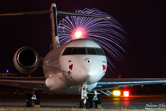 Private --- Bombardier BD-700 Global Express --- 9H-COL (Drinu C) Tags: longexposure shells night plane private fire fireworks aircraft aviation sony malta express dsc global mla bombardier bizjet privatejet qrendi bd700 lmml hx100v adrianciliaphotography 9hcol