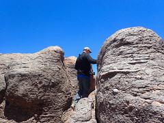 Climbing through rocks. (david takes photos) Tags: losflamencosnationalreserve reservanacionallosflamencos riochico atacama chile sanpedrodeatacama regióndeantofagasta david x