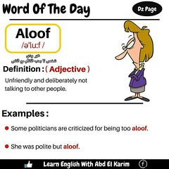 Word of the Day - Aloof ...