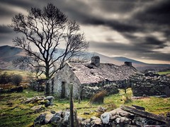 This old house. (melgarside) Tags: mountains clouds farmhouse cottage derelict landscape snowdonia snowdon cymru wales