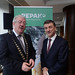 Seamus Clancy, Repak with Joe Dolan, IHF President pictured at the IHF conference in the Lyrath Estate, Kilkenny on Monday.