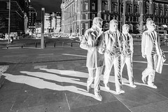 Beatles Negative (Andrew Brammall Photography) Tags: fab four mersey beat liverpool cunard liver port authority john paul george ringo mccartney harrison starr lennon bronze statues beatles