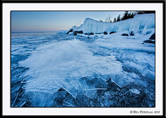 Sunset Blues at Stoney Point (Ben Podolak) Tags: ice mn duluth lakesuperior