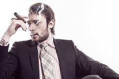 kristian-stor (Kasper Fladmose) Tags: male fashion shirt studio pants smoke tie tshirt cigar suit jeans casual rough kristianmathiasen etolimodels tolie toliemodels