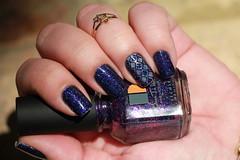 SUPRESA com DARE TO WEAR! (!S .!) Tags: blue cinema color closeup glitter club for purple nail halo polish it wear hues hollywood da ready dare harp base vite m95 seche carimbada burple konad 5cinco