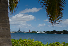 View from the Visitor's Center (deltaMike) Tags: usa hawaii memorial worldwarii arizonamemorial pearlharbor battleship usnavy mightymo visitorscenter