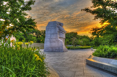 MLK Memorial, Sunrise 6/28 (D. Scott McLeod) Tags: usa monument sunrise washingtondc dc washington districtofcolumbia nikon memorial mlk hdr tidalbasin mlkmemorial martinlutherkingjrmemorial