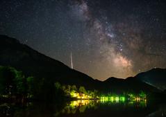 Galactic Serenade (@hipydeus) Tags: lake alps nikon astro meteor milkyway kochelsee d600 sigma35mmf14 vixenpolarie