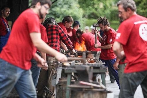 Warsztaty kowalskie w Wojciechowie / Blacksmithing workshop in Wojciechow, Poland