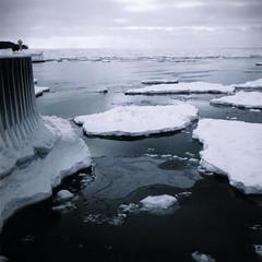 Lake Superior January (7thound) Tags: winter 6x6 film ice analog mediumformat kyle snowshoe photography michigan negative cameron scanned medium format houghton kiev lakesuperior 6cmx6cm puremichigan keewenaumichigan