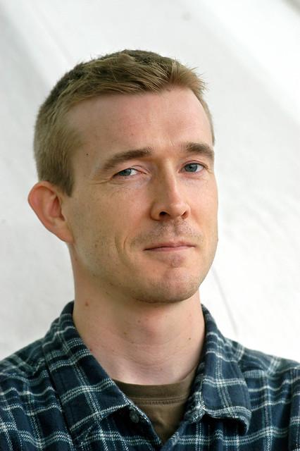 David Mitchell at the 2004 Edinburgh International Book 2004 Darren Shan signsFestival