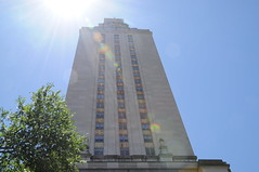 (UTexas Law School) Tags: tower clock ut exterior universityoftexas lensflare blueskies iconic symbolic