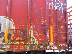 (VDub (o\I/o)) Tags: california railroad art up metal train painting graffiti coast paint pieces pacific union central tracks railway trains tags spray southern railcar valley bayarea unionpacific spraypaint boxcar panels graff piece aerosol streaks tagging ich freight boxcars upac mopac foaming ridged ichabod trackside freights rbox railart railbox monikers moniker railside benching