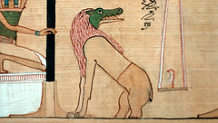 Hunefer's Book of the Dead, detail of Ammit