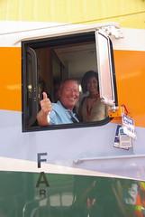 Thumbs up for SunRail (Ride SunRail) Tags: railroad news car train media tour five district tracks rail commuter commuterrail centralflorida passengercar fdot cabcar floridadepartmentoftransportation sunrail