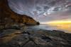 *Neptune Eyes * (Les Zeppelin) Tags: ocean california longexposure cliff seascape nature landscape pacific sandiego rope rockface rockformations sunsetcliffs neptuneeyes