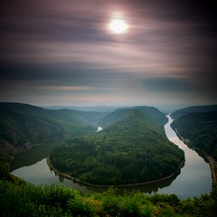 Saarschleife, Saarland (Patrick Semmler) Tags: river germany long exposure day cloudy loop patrick lee filters saar saarland saarschleife semmler bw30nd eos5dmarkiii