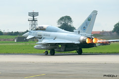 Saudi Typhoon T3 Burning Fire Rings (Aviation-Pictures.co.uk) Tags: green force exercise flag air royal eurofighter saudi typhoon raf burners squadron sqn coningsby