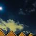 Moon over Churchill Park.