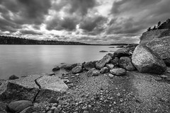 Approaching Storm (bluegreenorange) Tags: blackandwhite canada water clouds novascotia ns halifax longlake spryfield