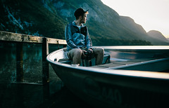 Morning (OSTERMAN ANZE) Tags: morning portrait lake nature sunrise boat friend slovenia canon5d bohinj nejc sigma35mm vision:outdoor=0828