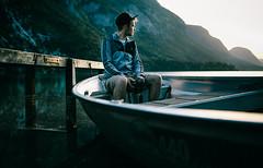 Morning (OSTERMAN ANZE) Tags: morning portrait lake nature sunrise boat friend slovenia canon5d bohinj nejc sigma35mm