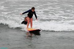 LessonsWithTyler (mcshots) Tags: ocean california sea usa beach water fun coast surf waves father stock daughter surfing tyler socal longboard surfers mcshots swells lessons losangelescounty