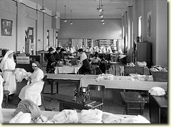 Rolling bandages with the Red Cross at The Courthouse  1917  albany ny WW I (albany group archive) Tags: albany ny court house red cross 1917 ww1 worldwari oldalbany history early 1900s old vintage photos historic historical