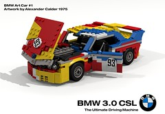 BMW 3.0 CSL Racer - BMW Art Car #1, Alexander Calder - 1975 (lego911) Tags: auto birthday art classic car 30 germany model lego anniversary render racing german calder bmw cs alexander spa 72 coupe challenge touring csl 6th cad racer lugnuts povray 24hr moc ldd miniland lego911 lugnuts6thanniversary vision:car=0669 vision:outdoor=0821