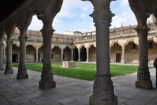 Patio de las Escuelas Menores de la Universidad de Salamanca.