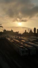 Haydarpaa (anadorei) Tags: sunset reflections turkey istanbul trainstation lx3