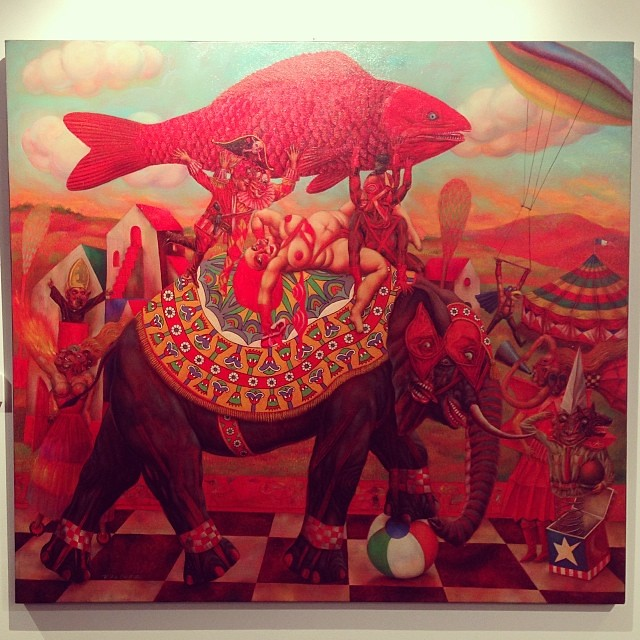 """Ganancia de Pescadores"" Francisco Vilchez • ""Bestiario"" #muestra colectiva #arteenlima #arte #artinlima #art #artistaperuano #artist #artista #peruvianartist"