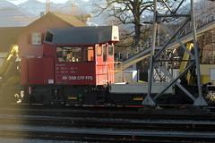 SBB Tm 234 114 - 7 Ameise ( Bahndiensttraktor - Baudiensttraktor - Traktor - Tm 2/2 ) am Bahnhof Rapperswil im Kanton St. Gallen in der Schweiz (chrchr_75) Tags: train de tren schweiz switzerland suisse suiza swiss eisenbahn railway zug sua locomotive christoph dezember svizzera bahn treno schweizer chemin centralstation sveits fer locomotora tog juna lokomotive lok sviss ferrovia zwitserland sveitsi spoorweg suissa locomotiva lokomotiv ferroviaria  locomotief chrigu  szwajcaria rautatie 1312   2013 bahnen zoug trainen  chrchr hurni chrchr75 chriguhurni chriguhurnibluemailch dezember2013 albumbahnenderschweiz2013712 hurni131223