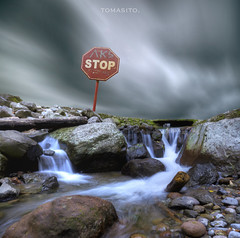 No Entry Into Paradise (Tomasito.!) Tags: longexposure usa sun green art texture love water beautiful rain clouds canon painting landscape photography 1 timelapse moss nikon rocks asia stream flickr image cloudy photos hiking unique streetsign fineart tripod philippines picture surreal images explore stop waterfalls getty albumcover movies winds hdr travelers happynewyear hikingtrail waterscape noriega tomasito amercia d90 vacationphotos mostbeautifulplaceonearth beautifulphoto greatphotograph 500px nikond90 manualblending touristspotphilippines instagram mostbeautifulphoto drnoriega jtnoriegathomas touristspotasia