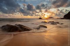 The Beach and Sunset (baddoguy) Tags: longexposure sunset sea beach water rock horizontal thailand island cloudy wave landmark iconic tranquilscene traveldestinations chanthaburi beautyinnature