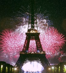 Eiffel Tower Fireworks - Paris - France