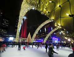 NYE at Nathan Phillips (Georgie_grrl) Tags: toronto ontario cold night happynewyear brrrr nathanphillipssquare canonpowershotelph330hs mynewdarkpinkside