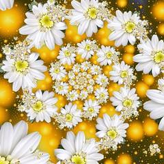 Fractal Daisy Glow Spiral (Rosemarie.s.w) Tags: flowers floral spiral spirals computergenerated digitalart uf ua daisys ultrafractal uf5 ultrafractal5 us5jf7sazhs