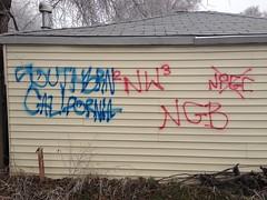 NATIVE WARRIORS 23, & NATIVE GANGSTER BLOODS (northwestgangs) Tags: spokane ipo gangs bloods crips ganggraffiti surenos nortenos nativewarriors rivalgangs redboyz ninedeuce