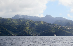 IMG_1434 (jaglazier) Tags: trees mountains clouds boats islands landscapes seascapes charlotte transport january carribean yachts sailboats forests volcanos deciduoustrees 2014 1614 saintvincent stvincentandthegrenadines saintvincentandthegrenadines copyright2014jamesaglazier